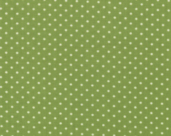Half Yard Bartholo-meow's Reef - Ocean Dots in Kelp - Green Cotton Quilt Fabric - Tim and Beck for Moda - 39537-15 (W2816)