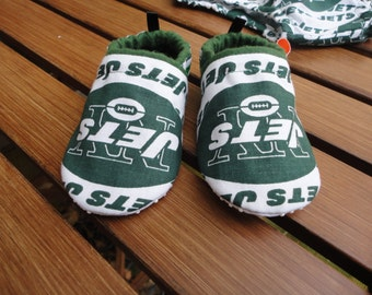 New York Jets Tailgating Booties Baby Boy Jets Tailgating Boutique  Soft Sole Shoes New York Jets Booties Free Shipping U.S. Only