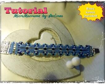 Micro Macrame Tutorial DIY Beaded Macrame Bracelet