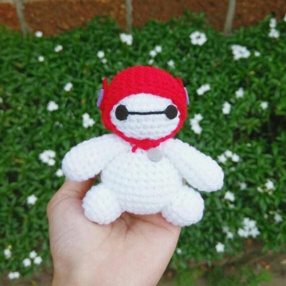 Amigurumi Mini Hat : Big Hero 6 Cute MiNi Baymax with Red Hat Amigurumi Crochet