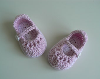Baby Girl Shoes - Baby Mary Jane Shoes - Newborn Baby Shoes - Crochet Baby Shoes - Baby Shoes - 0-3 months Baby Shoes