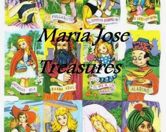 "Vintage Scraps, Cromos ""Fairy Tales"" - Digital Download"