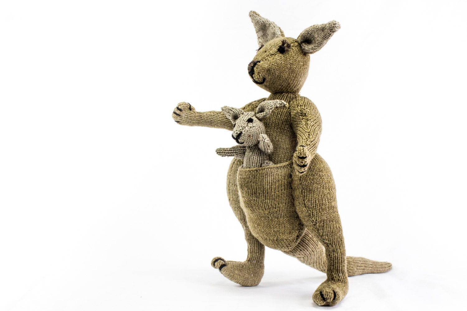 KNITTING PATTERN Kangaroo Knitting Pattern Toy Knitting