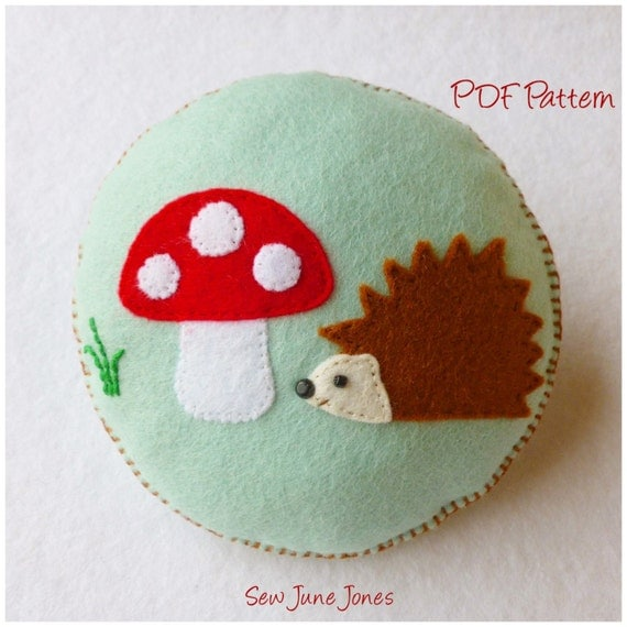Hedgehog and Toadstool Pincushion PDF Pattern and Tutorial ...