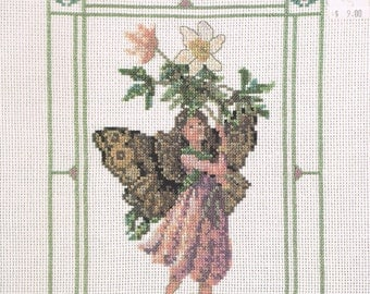 CROSS STITCH PATTERN - The Windflower Fairy Cross Stitch Patterns - Flower Fairies Of The Spring - Green Apple #630