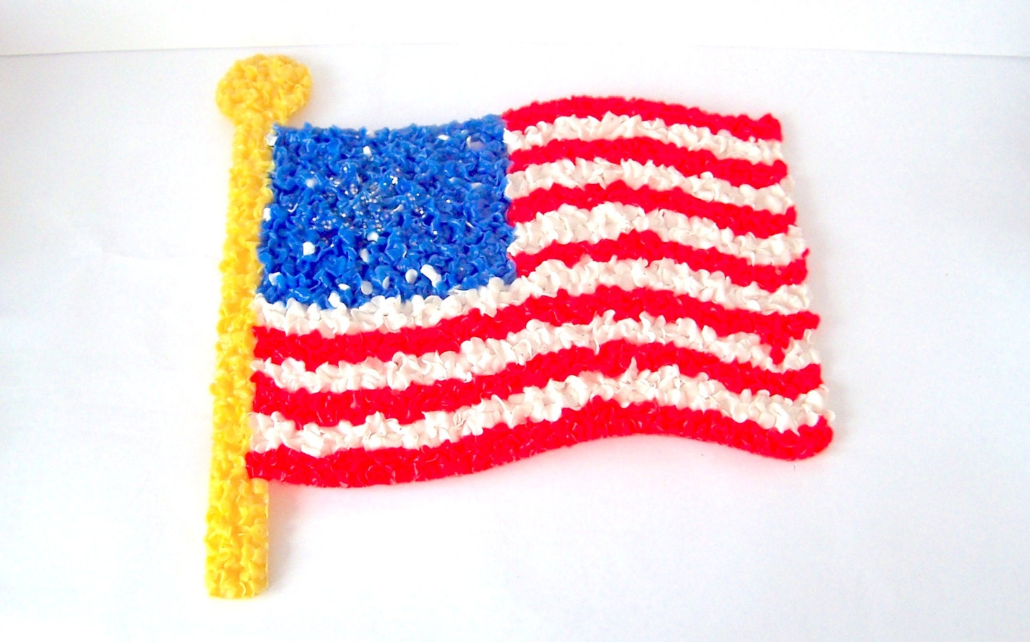 Melted popcorn art flag american flag 4th of july for American flag decoration