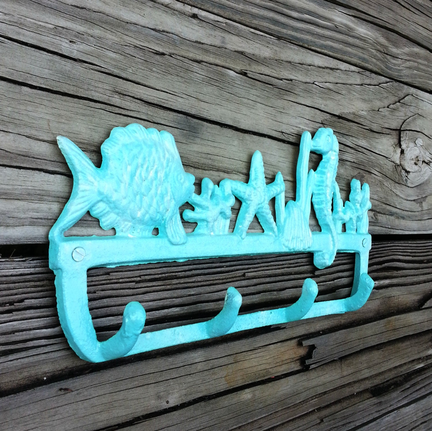 beach bathroom decor beach theme wall hook made of cast iron. Black Bedroom Furniture Sets. Home Design Ideas