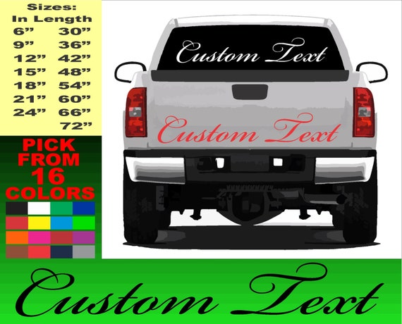 Personalized Name Stickers For Cars Popular Animal Car Namesbuy - Custom window decals for trucks