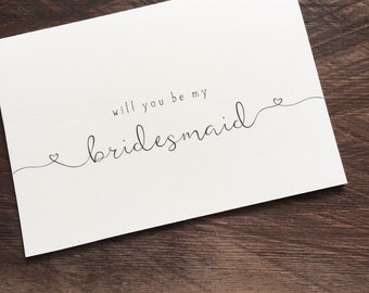 Will you be my Bridesmaid & Maid of Honour cards