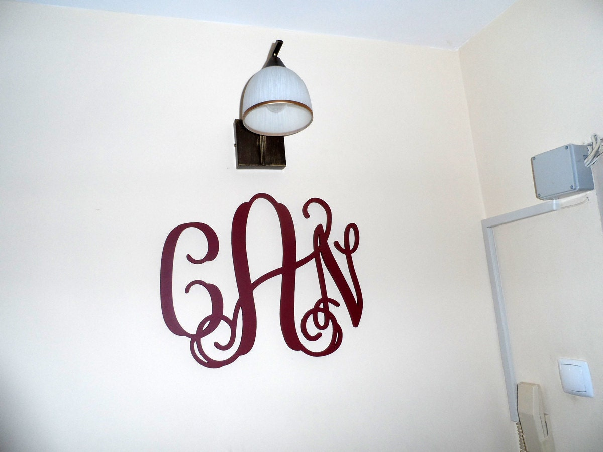 Home decor large wall monogram wooden monogram wall art for Monogram homes