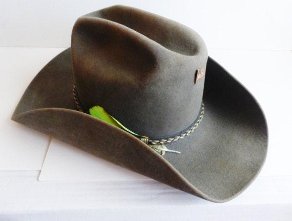 Granite Grey Resistol Rancher Cowboy Hat Size 6 5/8 Oval 4X Beaver