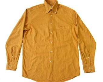 Vintage Christian Berg Stockholm men orange shirt long sleeves size S 100% cotton