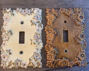 Floral Electrical Outlet Plate Cover