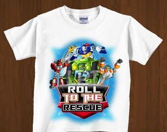 Rescue Bots Birthday Iron On PRINTABLE Image, Transformers Party Image, Printable Birthday Party Shirt Design Style 4- YOU PRINT