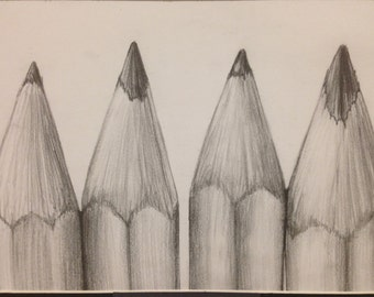 Pencil Tips Graphite Drawing