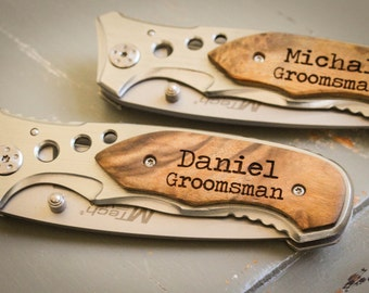 Personalized Pocket Knife, Personalized Folding Knife, Custom Engraved Knife: Father's Day, Gift for Him, Groomsmen, Stocking Stuffer - 23SL