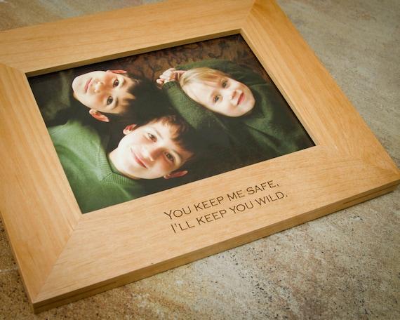 5x7 personalized picture frame custom frame engraved wood. Black Bedroom Furniture Sets. Home Design Ideas