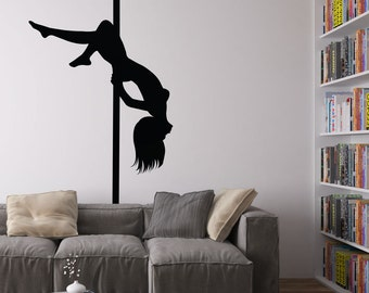 Pole Dancer Vinyl Wall Art Decal