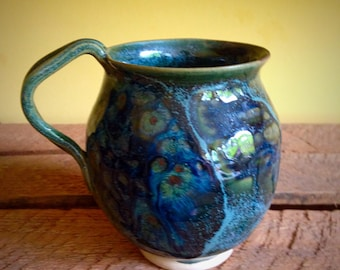Psychedelic Mug in Green, Blue and Purple