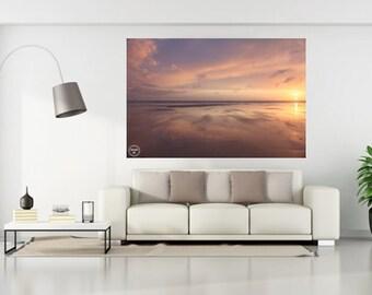 Beach Reflections, Beach Photography, Saunton Sands, Art Seascapes, Devon Beaches, Beach Art, Sunset Beach Home Decor,Calm Still Beach Photo