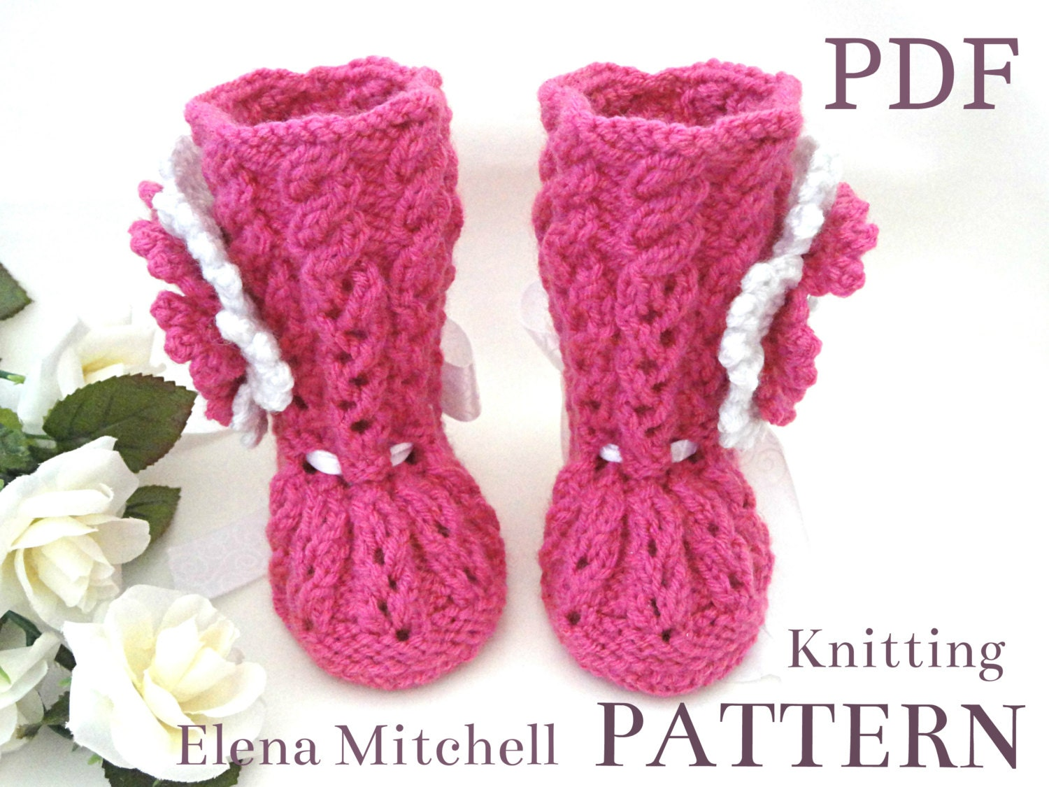 Knit Baby Girl Uggs Pattern