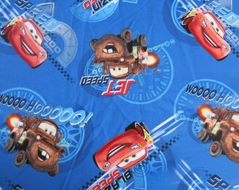 "1/2 yard of 100% cotton ""Cars"" Fabric"