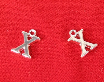 "10pc ""X"" charms in silver style (BC694)"