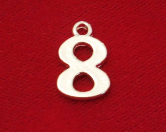"""10pc """"8"""" charms in silver style (BC735)"""