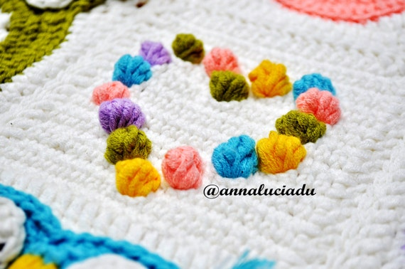 Owl Obsession colorful owl blanket pattern crochet owl