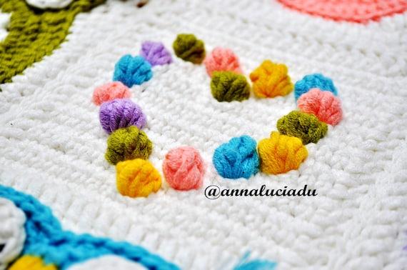 Crochet Pattern Owl Obsession Free : Owl Obsession colorful owl blanket pattern crochet owl