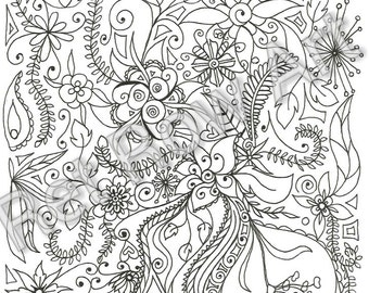 Ret Row Art colouring page
