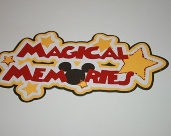 Disney - Magical Memories - Die Cut Title for Scrapbook Pages