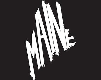 Custom Vinyl Maine State Decal