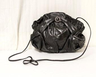 Viva of California, Leather purse,bags, purses, Shoulder Bag, 1980's