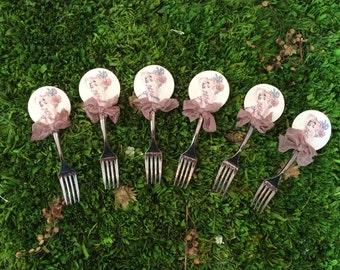 Vintage Beauty Appetizer and Dessert Forks
