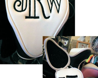 Custom Embroidered Leatherette Golf Club Covers