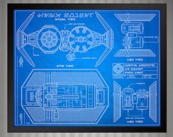 Star Wars Blueprint Style - Tie Bomber: 8 x 10 print