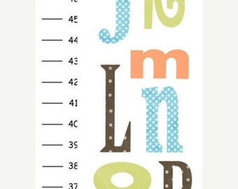 ON SALE Personalized Alphabet v10 Canvas Growth Chart