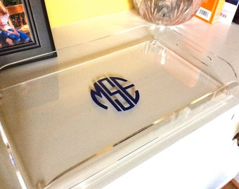 Fabulous 10x16 Monogrammed Serving Tray -- Perfect For Bridesmaids, Weddings, Housewarming Gifts, or You!