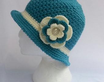crochet flapper winter hats