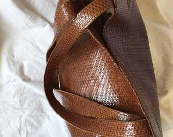 Large brown tote, Brown leather bag, Tan leather tote