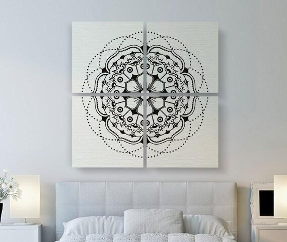 mandala moderne toile toile impression grand art art de. Black Bedroom Furniture Sets. Home Design Ideas
