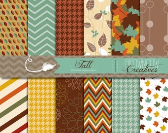 INSTANT DOWNLOAD Fall Digital Papers