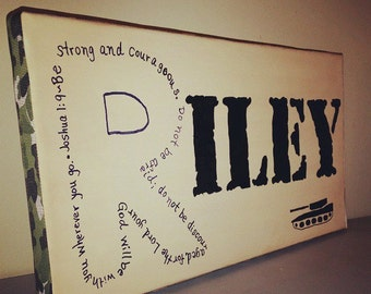 Personalized canvas name art