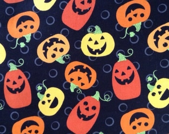 SALE - One Half Yard of fabric Material Halloween Jack-o-lanterns