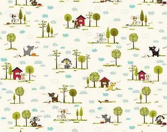 Riley Blake - Puppy Park - C2950 - By Bella Blvd - Cotton Woven Fabric