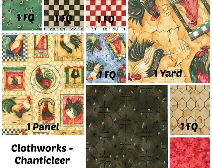 Clothworks - Chanticleer by Diane Knott - 9pc  Fabric Bundle