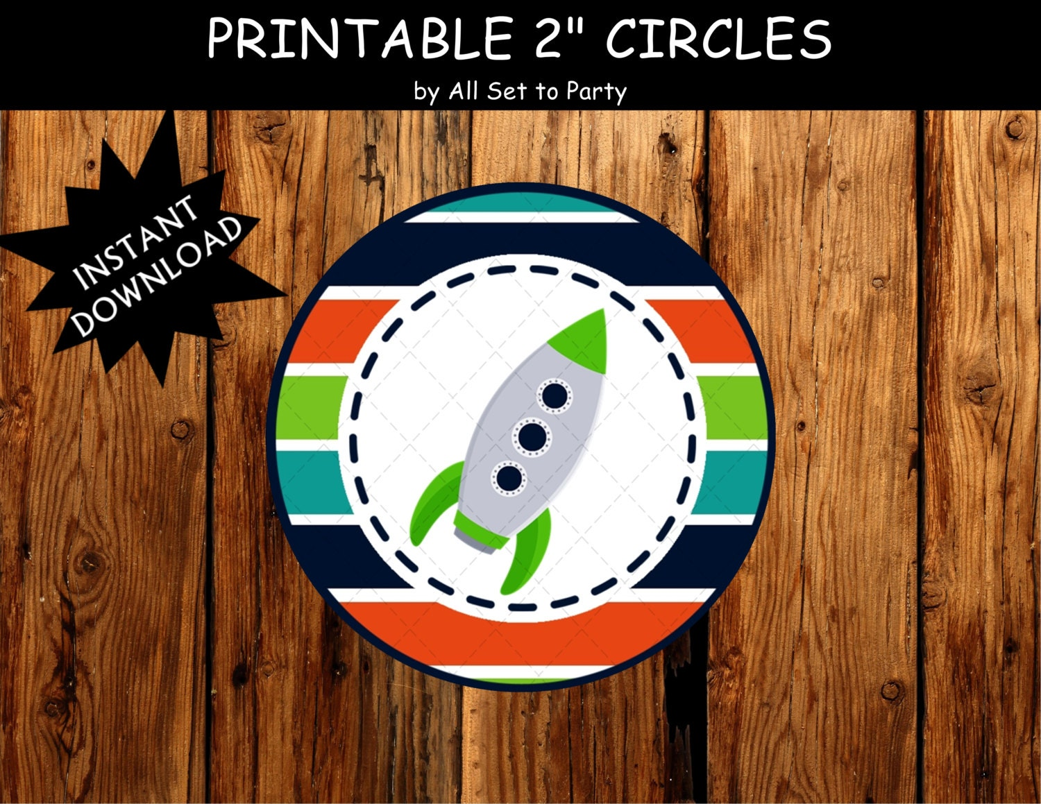 Space Birthday Party Printable Decorations Rocket Ship Party - Astronaut decorations