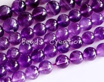 "75% off Natural Amethyst Round Beads, Purple Violet Lavender, Gemstone beads, Amethyst, AA Grade, 15.5"" FULL Strand"