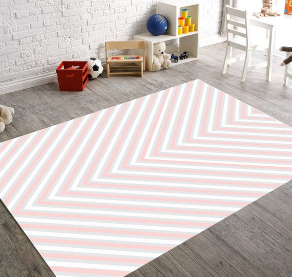Pink Rug Pink And Gray Nursery Decor Gray RugGrey By